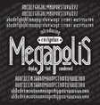megapolis font vector image vector image