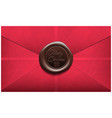 merry christmas envelope with wax seal sealing vector image