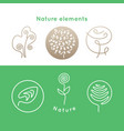 nature icons elements vector image vector image