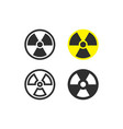 nuclear radiation icons vector image