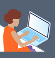 office woman at a desk with a laptop business vector image
