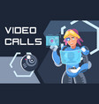 olourful a video call in near vector image vector image