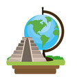 pyramid structure icon vector image
