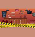 quarantine bar closed global epidemic and vector image vector image
