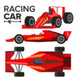 racing car bolid sport red racing car vector image