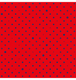red navy blue star polka dots background vector image vector image