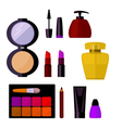 set cosmetic accessories vector image vector image
