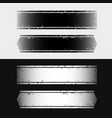 set grunge style horizontal banners black and vector image vector image