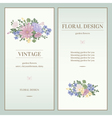 Set of two invitations in vintage style vector image vector image
