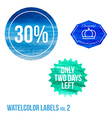 Set of watercolor shopping icon in eps vector image vector image