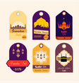 set ramadan discount tags vector image