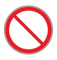 sign no crossing vector image vector image