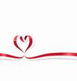 singapore flag heart-shaped ribbon vector image