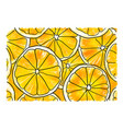 slices of orange vector image vector image
