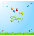 Spring background with Text and Balloons vector image vector image