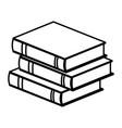 stack book literature learning study vector image vector image