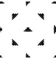 summer hat pattern seamless black vector image vector image
