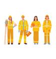 surveyor engineer firefighter road service worker vector image