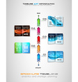 Timeline with Infographics design elements for vector image vector image