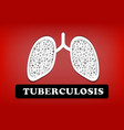 tuberculosis lung cancer in design vector image