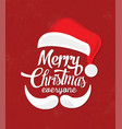 typographic christmas design with santa vector image vector image