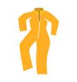 vintage orange raincoat drawing vector image
