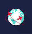 world travel concept icon flat design vector image