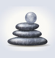 zen spa stones stack with abstract textured vector image