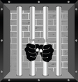 prison bars freedom with hand vector image