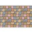 Seamless pattern with cats faces vector image