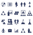silhouette black business icon set vector image