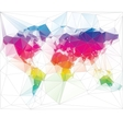 colored world map triangle design vector image