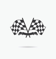Flag icon Checkered or racing flags and finish vector image
