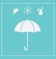 umbrella icon isolated on blue background vector image