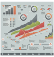 business related infographic elements vector image
