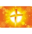 easter jesus cross background 1 vector image