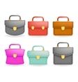 Schoolbag Realistic icons set education symbol vector image