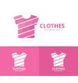 t-shirt logo combination garment and vector image