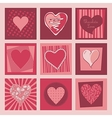 Valentine Hearts Set vector image