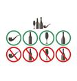 Do not drink Do not smoke vector image