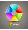 3d Shape Abstract background vector image vector image