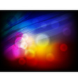 Abstract Design with Neon Lights vector image vector image
