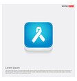 aids awareness ribbon sign or icon vector image