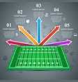 american football gren field business vector image