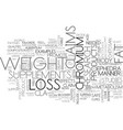 are weight loss supplements useful text word vector image vector image