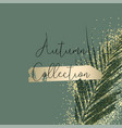 autumn collection trendy chic gold blush vector image vector image