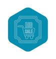 big sale sticker icon outline style vector image vector image