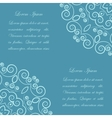 Blue background with ornate pattern vector image
