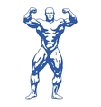 bodybuilder muscular man vector image