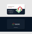 business card for a real estate consultant vector image vector image